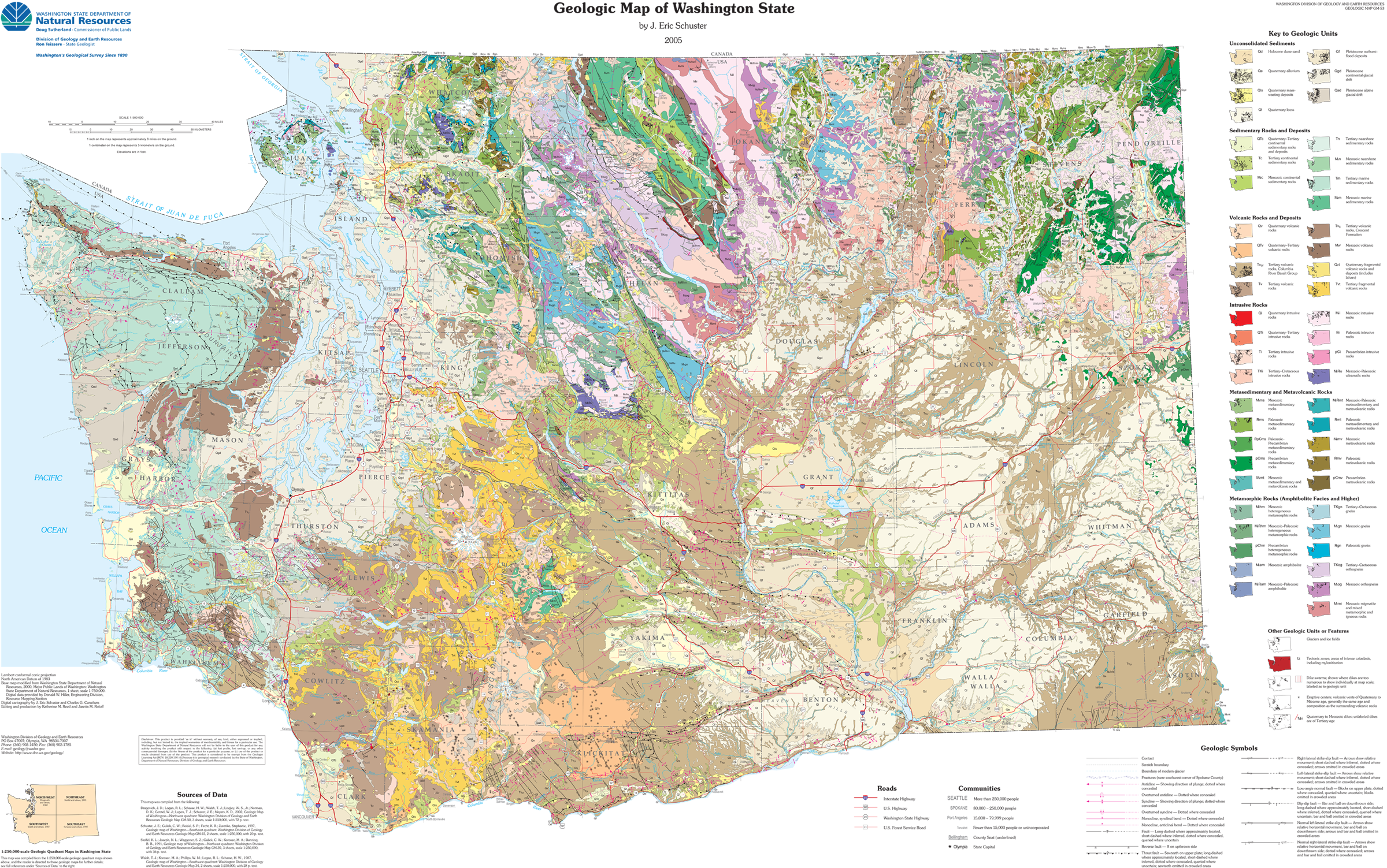 Happy Geologic Map Day WASHINGTON STATE GEOLOGY NEWS - Map of washington state