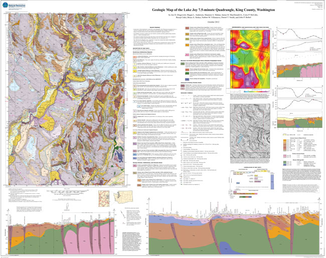 Thumbnail image of the Lake Joy 7.5 minute quadrangle geologic map, Plate 1.