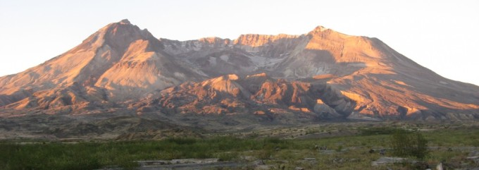 Mount St. Helens captured from the Pumice Plain near Spirit Lake in September 2012. Photo courtesy of Pete Stelling, Western Washington University.