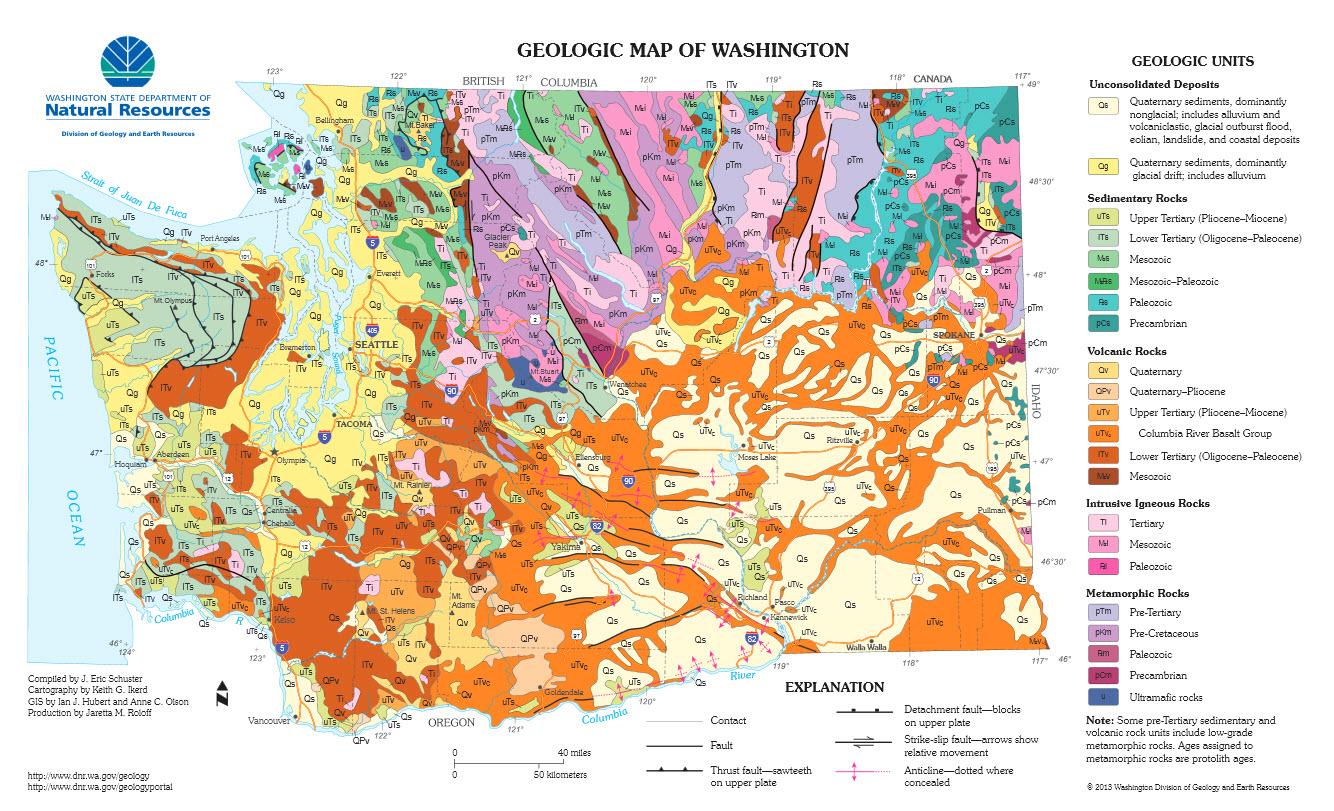 Happy National Geologic Map Day  Washington State
