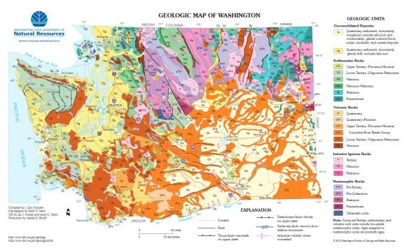 Landslide Maps Washington Geologic Map of Washington