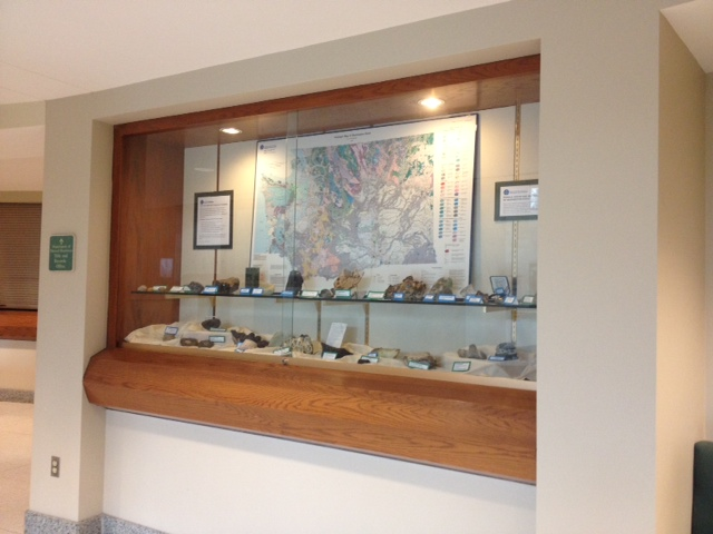 Geology display in the NRB Rotunda.