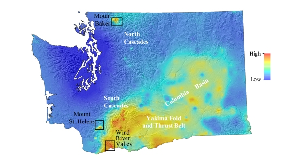 Geothermal Resource Potential Map of Washington State