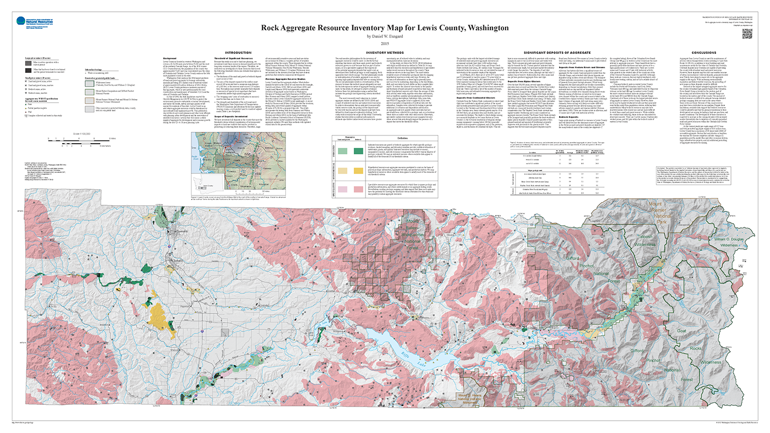 Lewis County Washington Map.Newly Published Rock Aggregate Resource Inventory Map Of Lewis