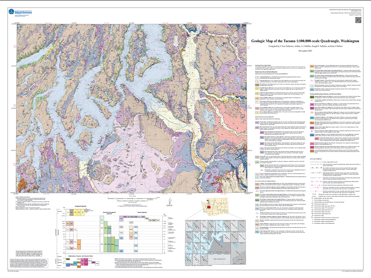 Newly Published Geologic Map of the Tacoma 1100000scale